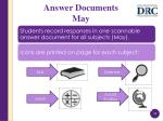 answer documents may