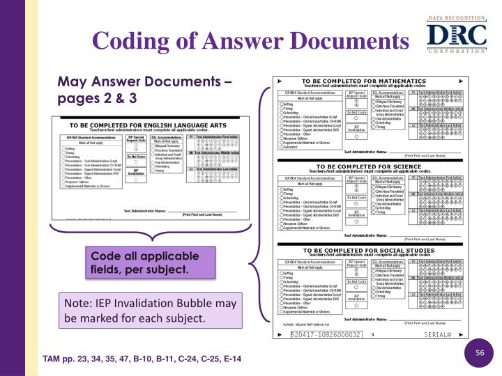 May Answer Documents –