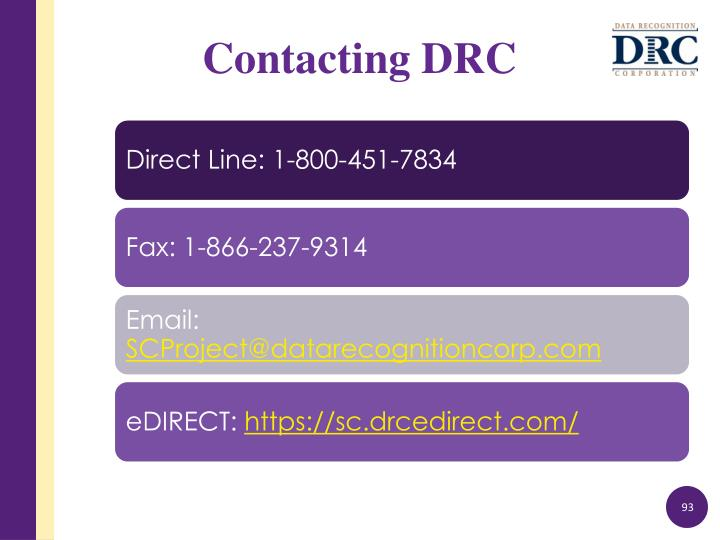 Contacting DRC