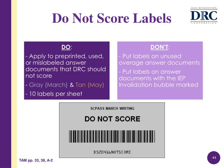 Do Not Score Labels