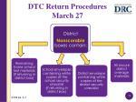 dtc return procedures march 273
