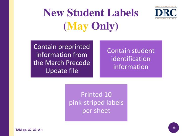 New Student Labels