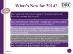what s new for 2014