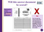 will this answer document be scored2
