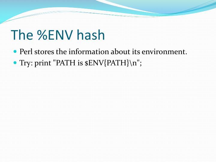 The %ENV hash