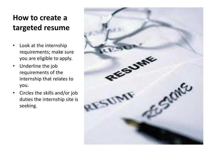How to create a targeted resume