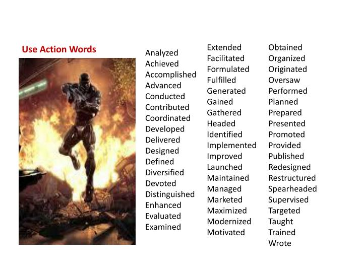 Use Action Words