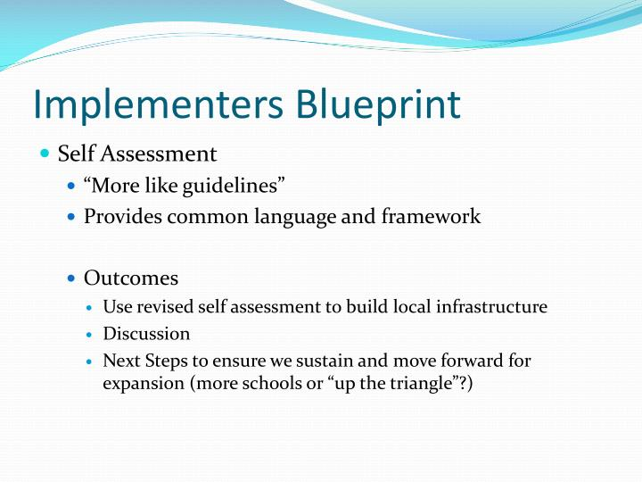 Implementers Blueprint
