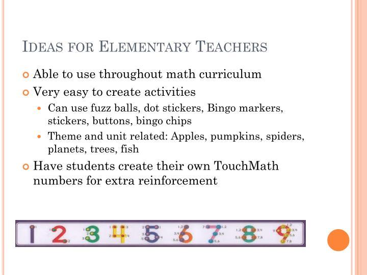 Ideas for Elementary Teachers