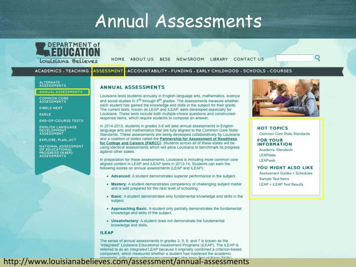 Annual Assessments