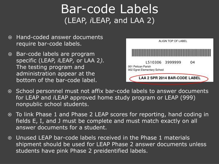 Bar-code Labels