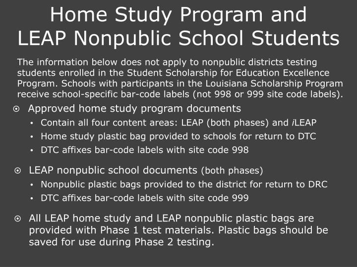 Home Study Program and
