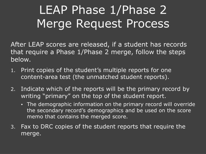 LEAP Phase 1/Phase 2