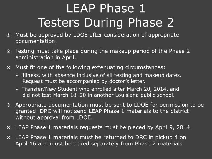 LEAP Phase 1