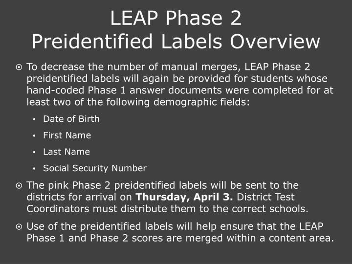 LEAP Phase 2