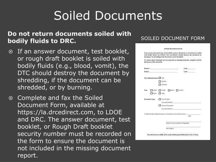 Soiled Documents