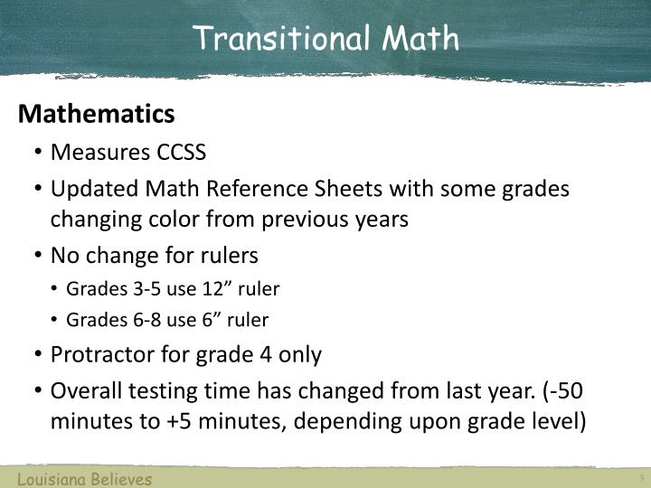 Transitional Math