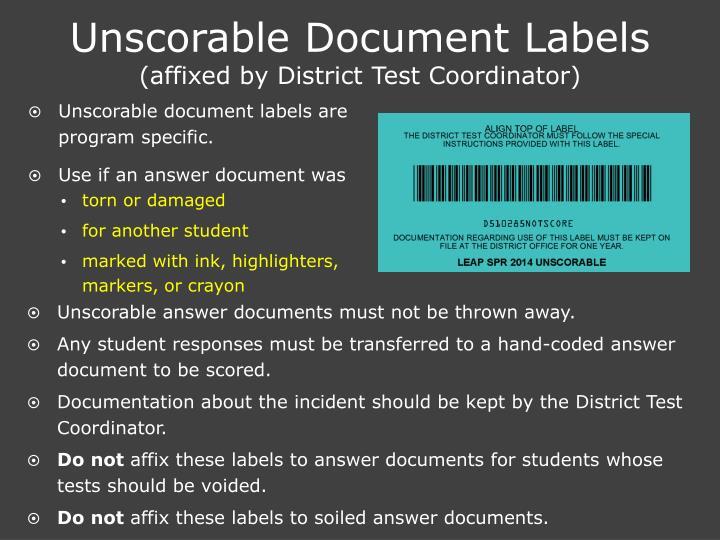 Unscorable Document Labels