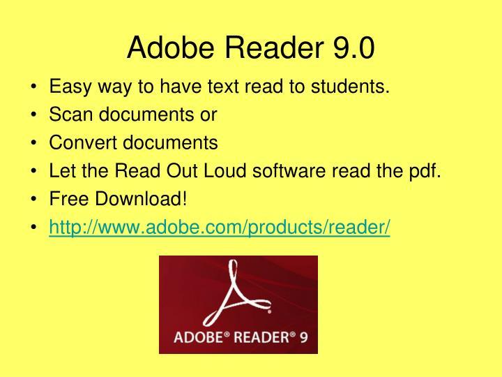 Adobe Reader 9.0