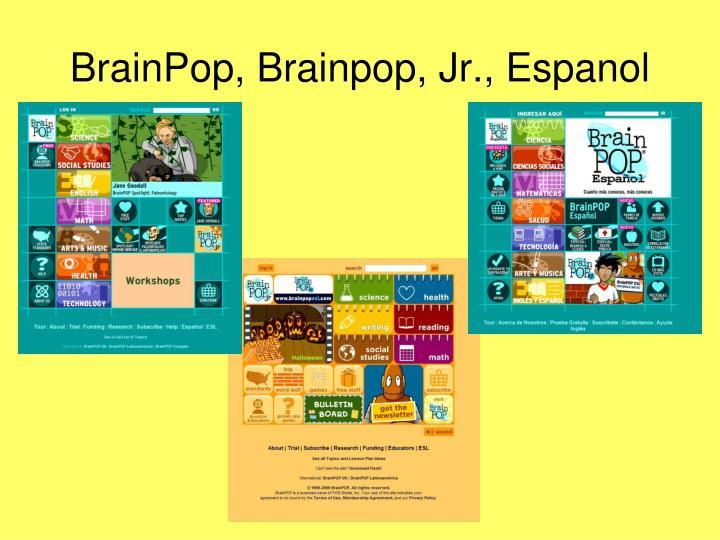 BrainPop, Brainpop, Jr., Espanol
