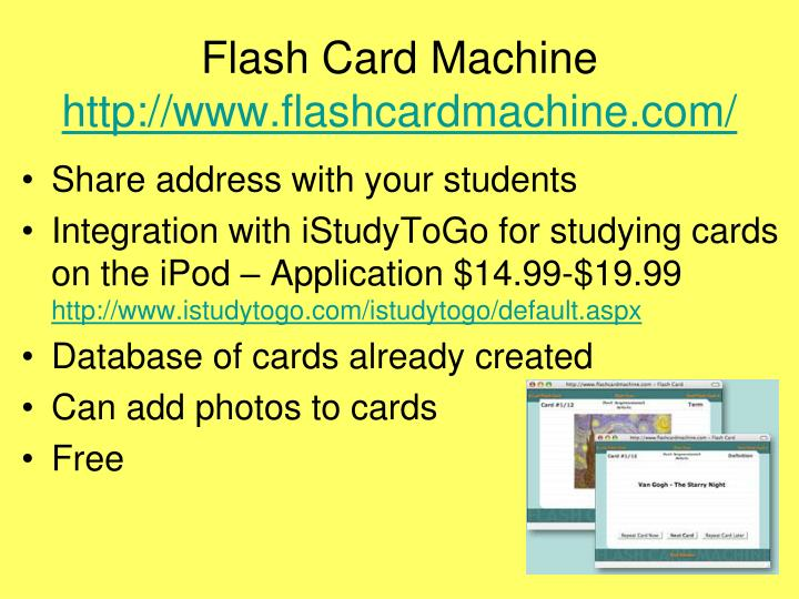 Flash Card Machine