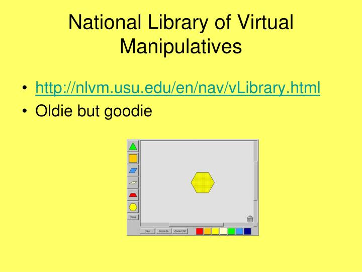 National Library of Virtual Manipulatives
