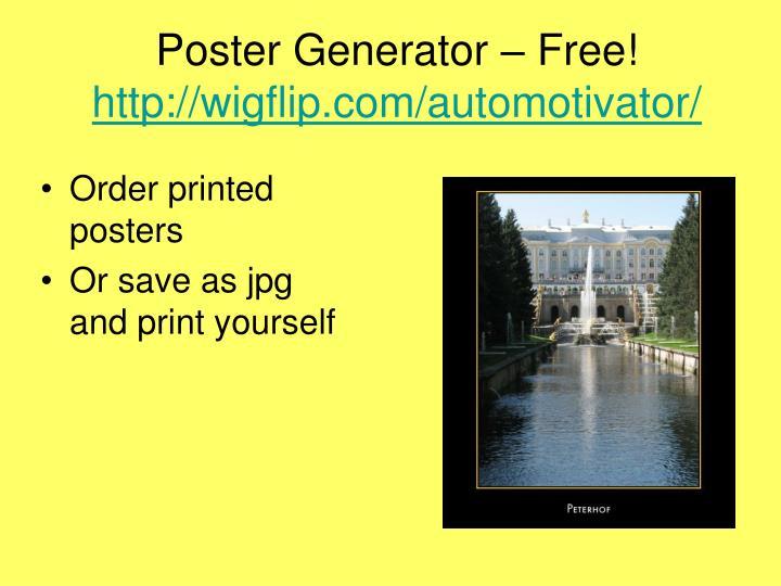 Poster Generator – Free!