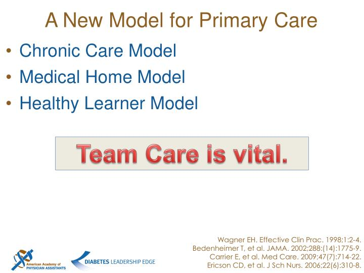 A New Model for Primary Care