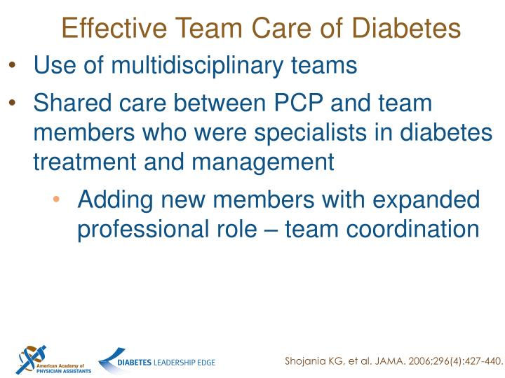 Effective Team Care of Diabetes