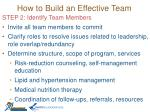 how to build an effective team1