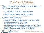 the cost of diabetes1