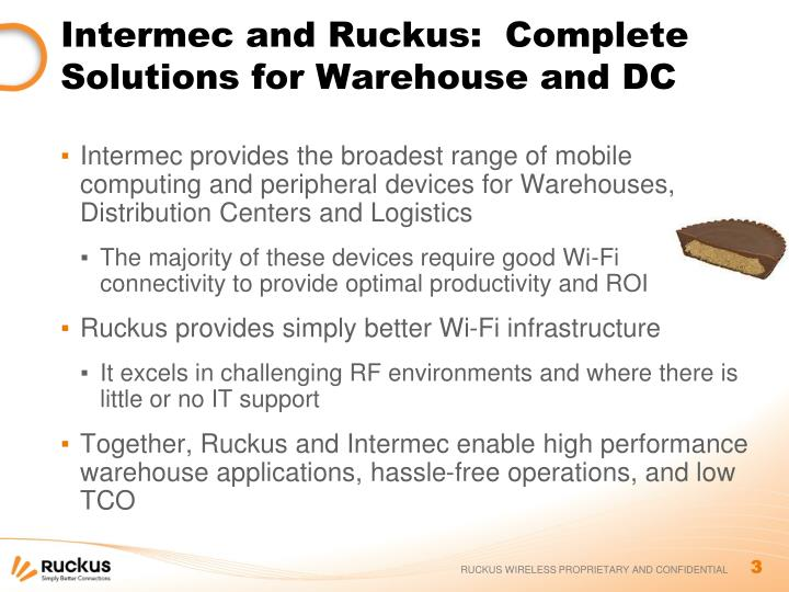 Intermec and ruckus complete solutions for warehouse and dc