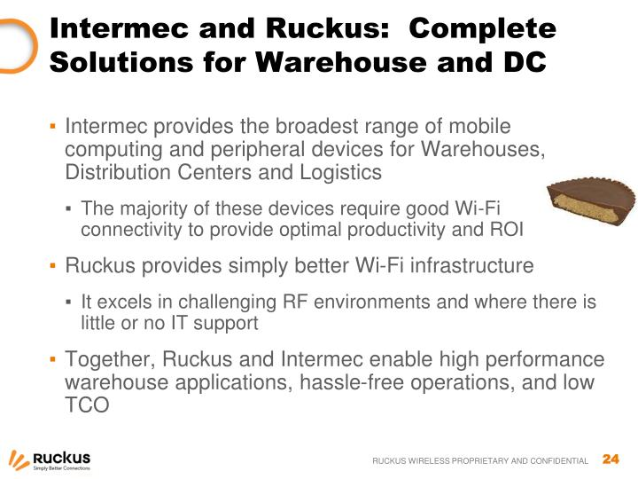Intermec and Ruckus:  Complete Solutions for Warehouse and DC