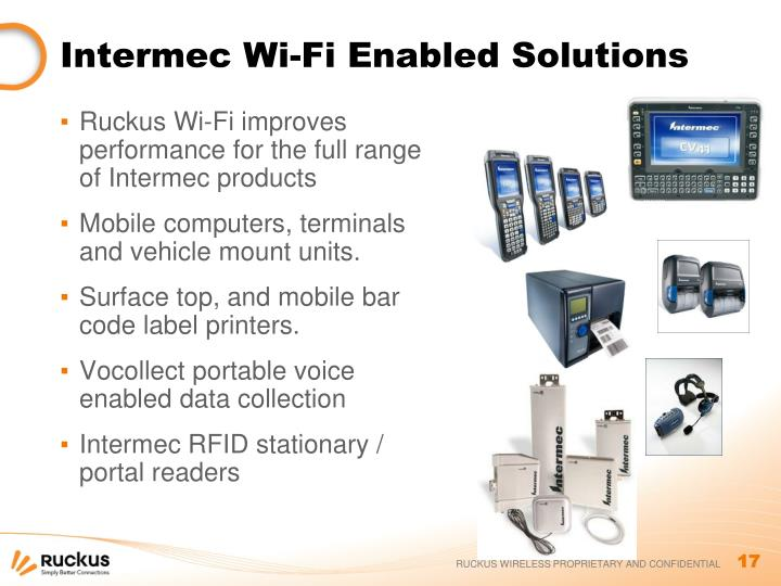 Intermec Wi-Fi Enabled Solutions