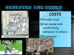 benefits and costs1