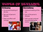 types of deviance1