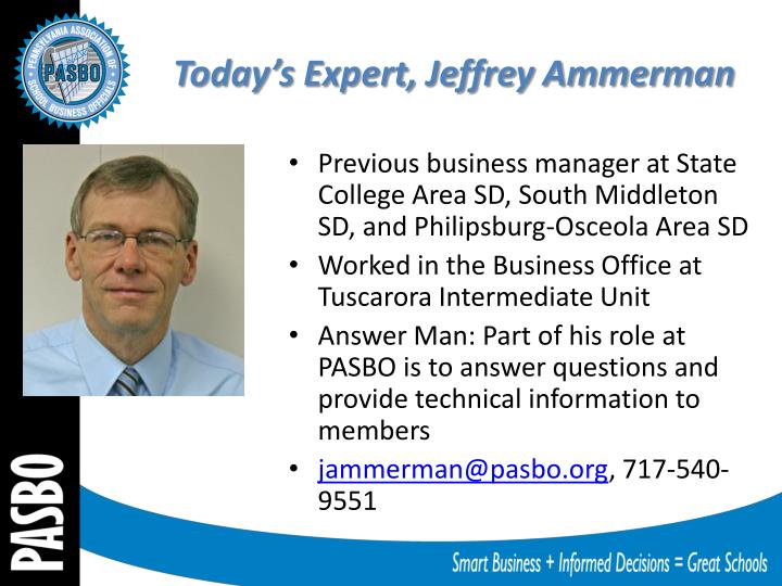 Today's Expert, Jeffrey Ammerman