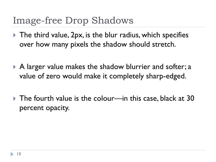 Image-free Drop Shadows