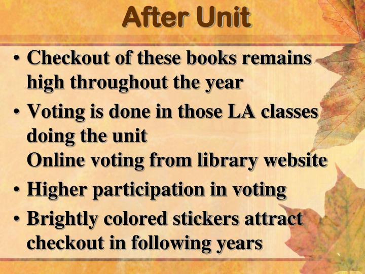 After Unit