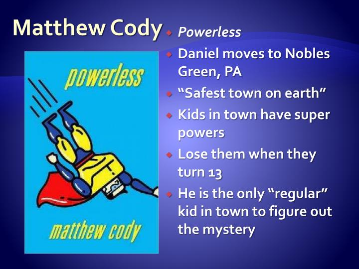 Matthew Cody