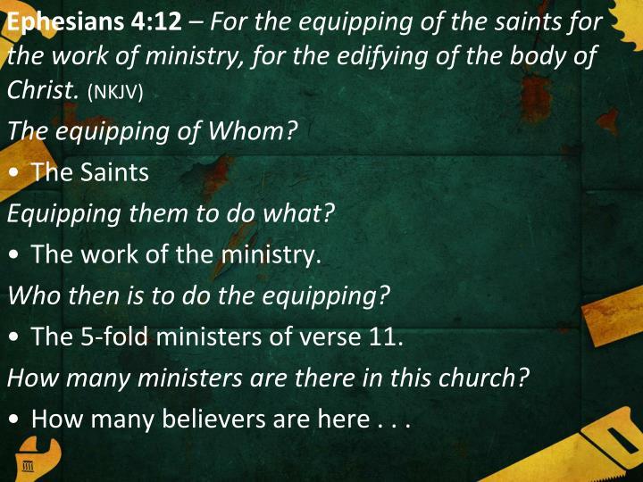 Ephesians 4:12