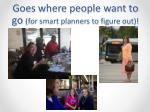 goes where people want to go for smart planners to figure out