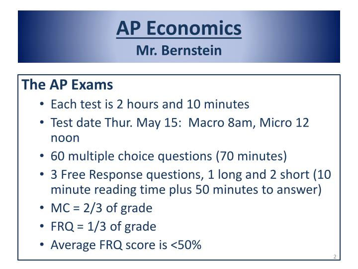 Ap economics mr bernstein