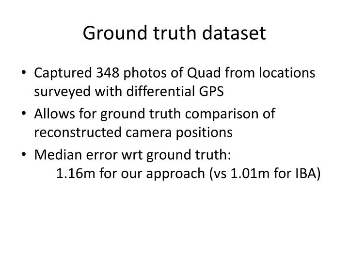 Ground truth dataset