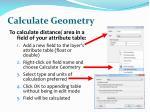 calculate geometry