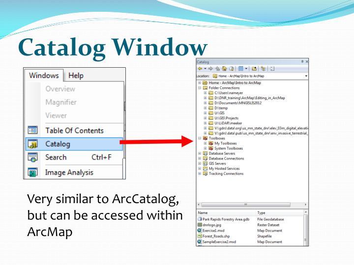 Catalog Window