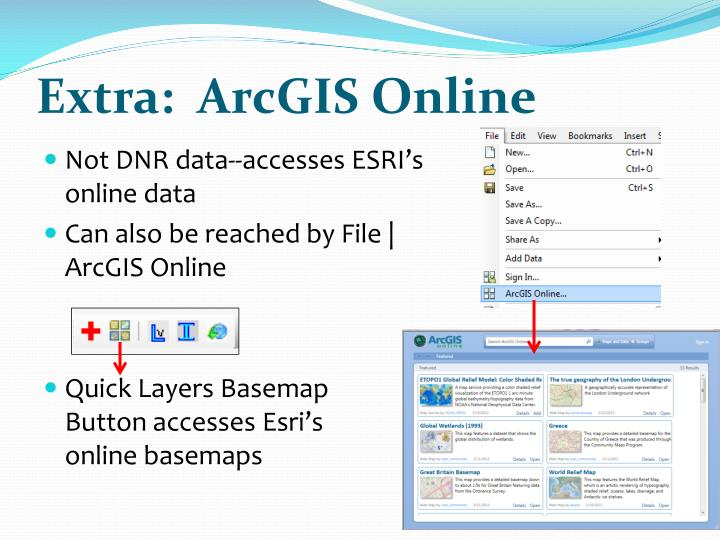 Extra:  ArcGIS Online