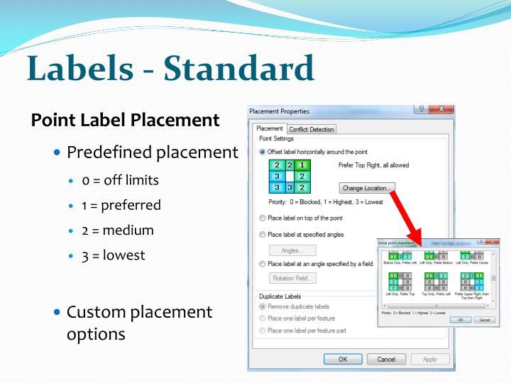 Labels - Standard