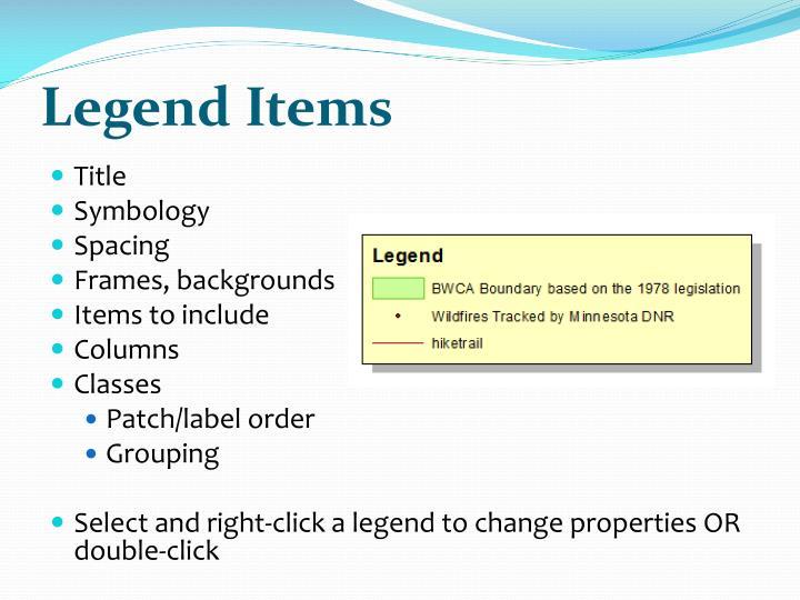 Legend Items