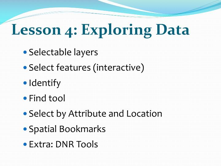 Lesson 4: Exploring Data